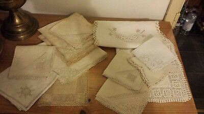Collection of Vintage Hand lace crochet pieces . .. napkin, samples