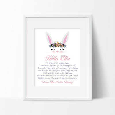 Personalised Letter from Easter bunny,