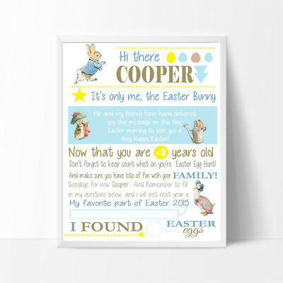 Personalised Letter from Easter bunny, Peter Rabbit