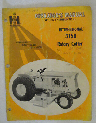 International Harvester Cub 3160 Rotary Cutter Operator's Manual DCPA4