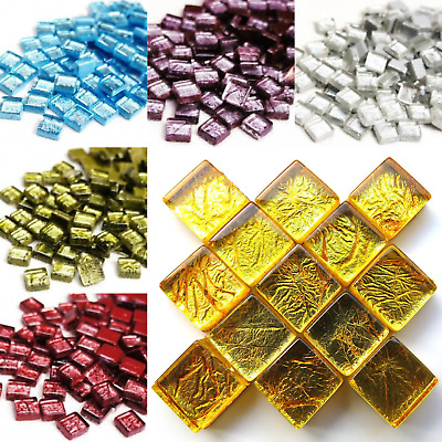 10mm Foil Backed tiles for craft mosaics - 50g Various Colours