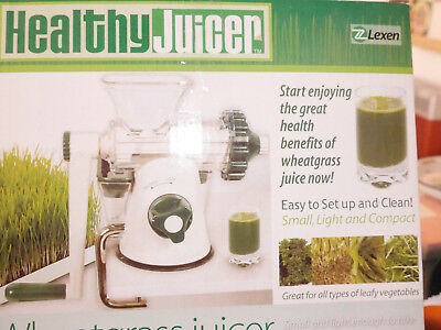 healthy juicer weizengras entsafter gesundheits saftpresse vegan powerentsafter eur 21 70. Black Bedroom Furniture Sets. Home Design Ideas