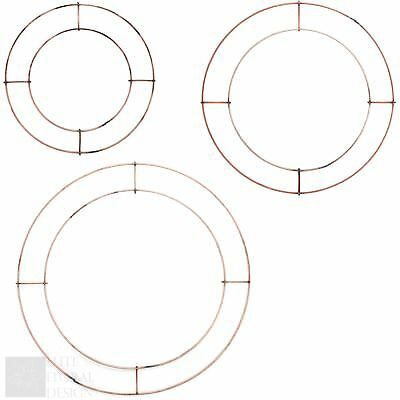 8 10 Or 12 Flat Copper Wire Wreath Foam Oasis Ring Frame