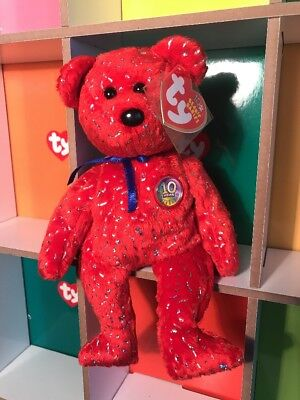 f96304be4c6 Ty Beanie Baby   Babies Decade the Red Bear - MWMT