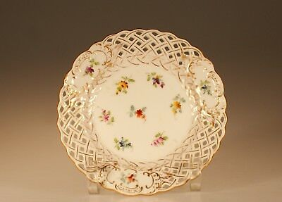 "Richard Klemm ""Dresden"" Reticulated Bread and Butter Plate C on Meissen Blank"
