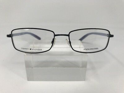 ba5bc7aae8 Tommy Hilfiger Eyeglasses 52-17-135 TH1022 Stainless Steel Blue Chrome Blue  A510