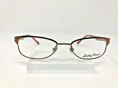 42dff66dd55b Lucky Brand Eyeglasses Brown Metal Frame 48-17-130 Full Rim 1160