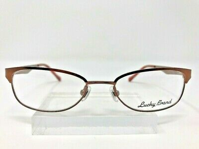 9a2c6a721d45 Lucky Brand Eyeglasses Lizzie 48-17-130 Brown Metal Frame Full Rim 3348