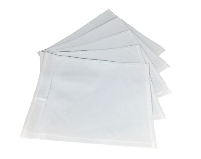"4.5"" x 5.5"" Packing List Envelopes Adhesive Clear Invoice Slip Address Pouches"