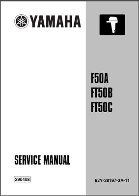 Yamaha F50 FT50 F60 4-Stroke Outboard Motors Service Manual CD