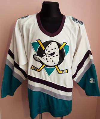 Anaheim Mighty Ducks NHL Hockey Jersey men s l Starter vintage 1998 USA e7d9b4b93