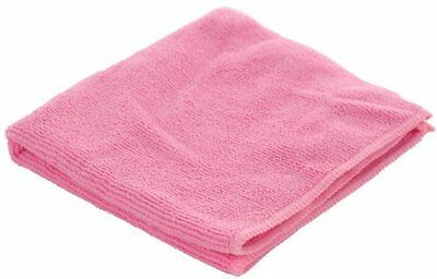 Large Microfibre Cloths Pink Cleaning Duster Polishing Car Home (Qty 10) 40x40cm