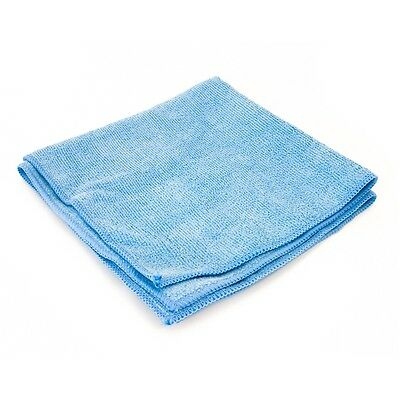 Large Microfibre Cloths Blue Cleaning Duster Polishing Car Home (Qty 10) 40x40cm
