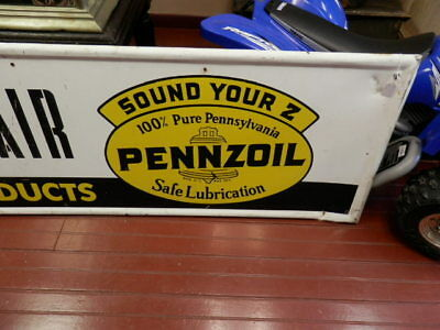 1962 Pennzoil Sign Sound Your Z Safe Lubrication Middletown Pa Auto Repair