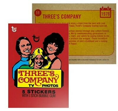 2018 Topps Wrapper Art Card #11 - 1978 Three's Company 80th Anniversary