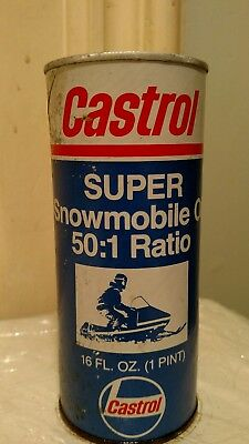 Rare Vintage New Unopened Castrol Super Snowmobile Oil can 50:1 2Stroke Mancave
