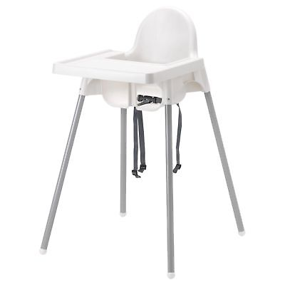 Ikea Antilop Baby Highchair With Safety Strap Cover & Tray Ikea High Chair Kids