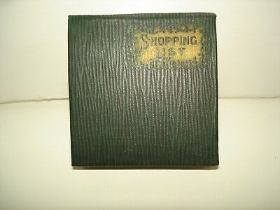 Columbia Pa. Antique Watt & Shand Department Store Shopping List Booklet