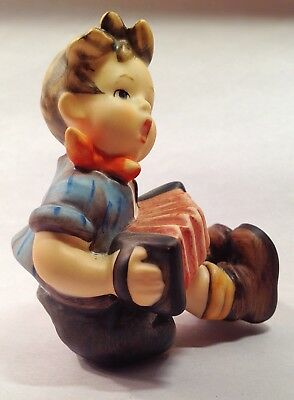 Hummel 734 390 Boy With Accordion Signed Figurine & Box Goebel No Issues!