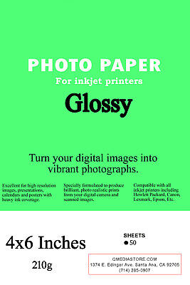 """High Quality 4"""" x 6"""" Professional Glossy Inkjet Photo Paper 100 Sheets"""