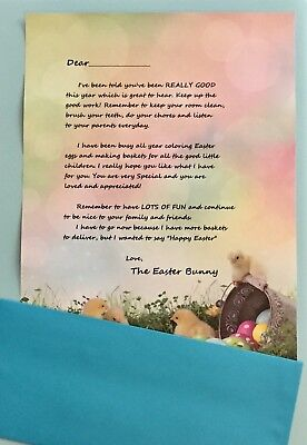 Personalize a Letter from The Easter Bunny to your child on Printed Stationery
