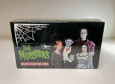 The Munsters Deluxe Series 1 - Sealed Trading Card Hobby Box - Dart 1996