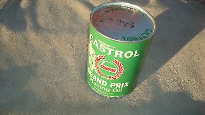 VINTAGE CASTROL GRAND PRIX  MOTOR OIL QUART CAN  four cycle SAE 60!