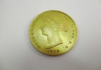 """1868 Australia """"Victoria Young Head"""" One Sovereign Gold Coin"""
