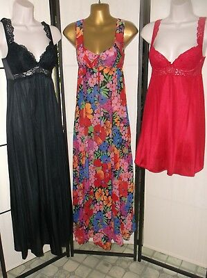 Olga nightgowns/babydoll lot of 3; 32/34/Small/XS vintage 1970s/1980s EUC Resale