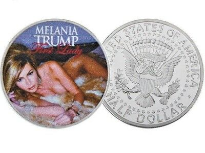 Melania Trump - Our First Lady - 1x Silver Plated Commemorative Novelty Art-Coin