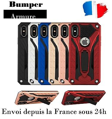Coque hybride bumper AntiChoc Armure X style protection iPhone 5/S/6/S/7/8/X/XS
