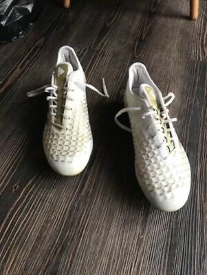 Adidas Predator Malice size 8 white/gold SG Men's Rugby Boots