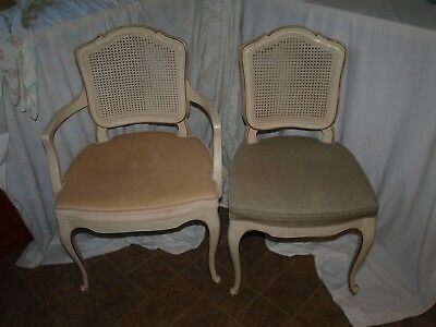 Vintage Burns Case Goods King and Queen Chairs