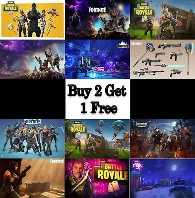 Fortnite Gaming Poster Print Wall Art A4 A3 A2 Xbox PS4 Game Console Online Geek