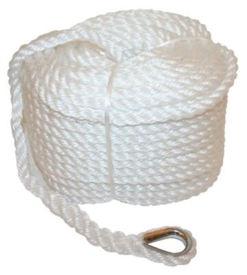 Anchor Marine Rope Boat Mooring Line Stainless Steel Thimble 12mm x 50 Metres