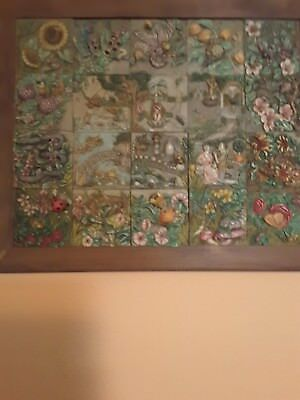 Harmony Kingdom Byrons Secret Garden All 20 Tiles With Frame By Bgkcollectibles