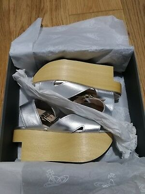 1054d8356611 new Vivienne Westwood Rocking Horse Slave shoes UK4-37 Silver leather RRP  £320