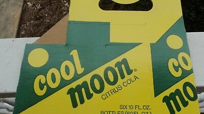 New Old Stock 6 Pack Cool Moon Soda Bottle Carrier Carton Made By Cheerwine