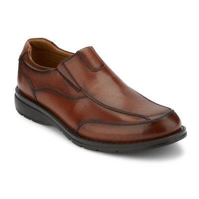 Dockers Men's Fontana Genuine Leather Slip-on Rubber Sole Oxford Shoe Dark Tan