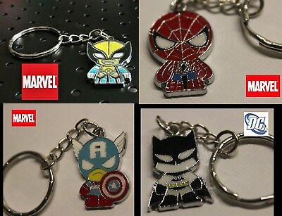 Marvel Comic Scottie young style Keychain Spiderman batman wolverine Cap America
