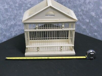 Nice Wood & Metal Decorative Bird Cage 15 1/2 in H -15 in L & 8 1/2 in W
