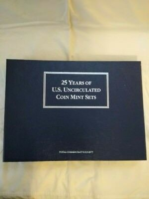 25 Years Of U.s. Uncirculated Coins Mint Sets 1964-1987. Postal Commemorative