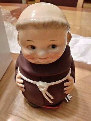 Goebel Porcelain FRIAR TUCK BANK with Key Never Used Made in Germany-New