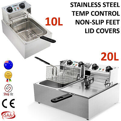 New COMMERCIAL DEEP FRYER COOKER ELECTRIC Basket Industrial Chip Oil Fry Fryer
