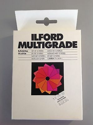 "ILFORD Multigrade 3 1/2"" x 3 1/2"" Filters Darkroom Set photography"
