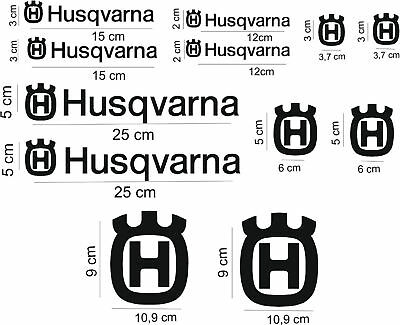 Adesivi Husqvarna logo sticker decal aufkleber moto car bike auto