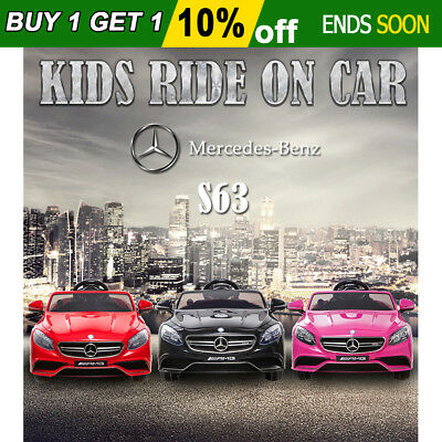 Kids Electric Ride on Car Mercedes Benz Licensed S63 AMG Toy Remote Battery 12V