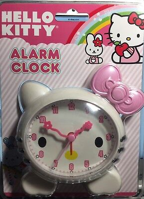NEW in Package HELLO KITTY Sanrio Alarm Clock Quartz - Adorable Pink Bow