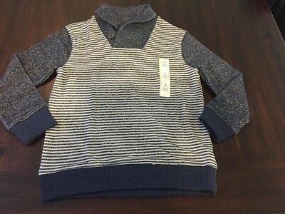 NWT Boys' Long Sleeve COwl Neck  Sweater - Cat & Jack S (6-7)