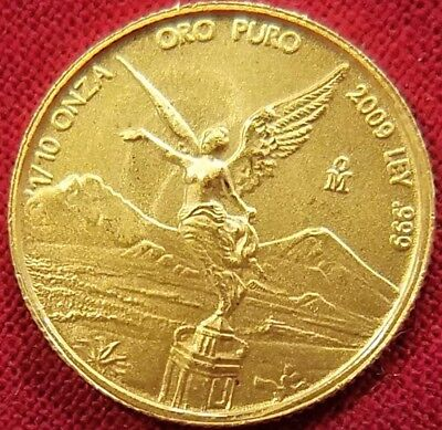 Mexico 2009 LIBERTAD ONZA Gold 1/10 Troy Oz VERY LOW MINTAGE: 9000 Lustrous